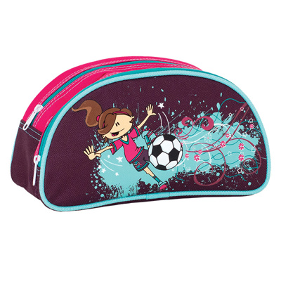 LG Pencil Case, Half Moon - Soccer