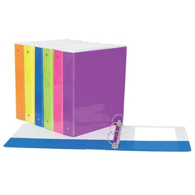 "1"" Presentation Binder, D-Ring, Neon"