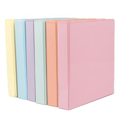 "1"" Presentation Binder, D-Ring, Pastel"