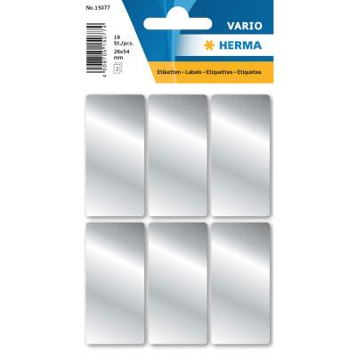 VARIO Rectangular Labels 26x54 mm, Silver