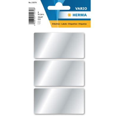 VARIO Rectangular Labels 34x67 mm, Silver