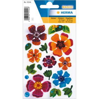 Stickers MAGIC Flowers, 3D Petals