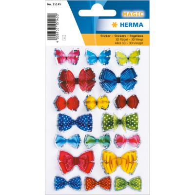 Stickers MAGIC Bows, 3D Ends