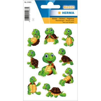 Stickers MAGIC petite tortue, yeux mobiles