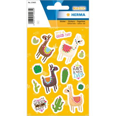 Stickers MAGIC The Llama, Glitter Foil