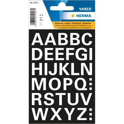 VARIO Letters (A-Z) 15 mm, White