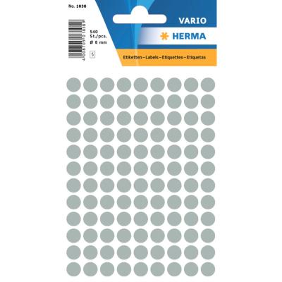 VARIO Round Labels, Ø 8 mm Dots, Grey