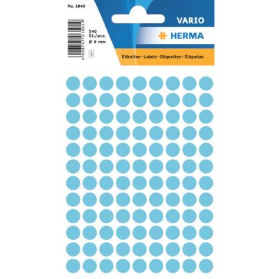 VARIO Round Labels, Ø 8 mm Dots, Blue