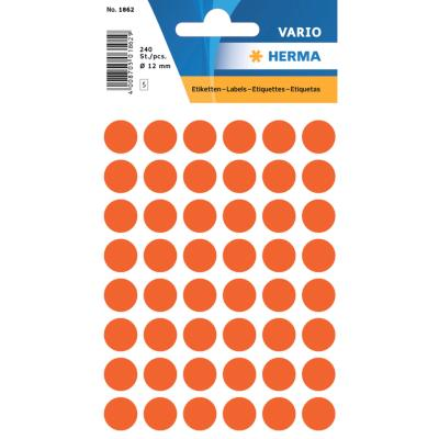 VARIO Round Labels, Ø 12 mm Dots, Red
