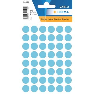 VARIO Round Labels, Ø 12 mm Dots, Blue