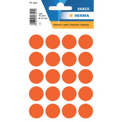 VARIO Round Labels, Ø 19 mm Dots, Red