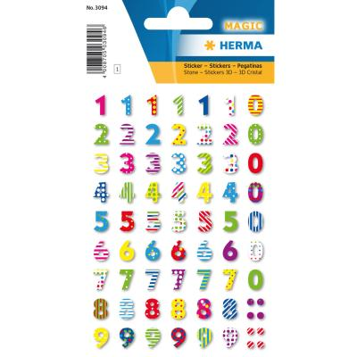 Stickers MAGIC Colourful Numbers, Stone