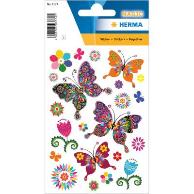 Stickers MAGIC Butterfly Diversity, Glittery Foil