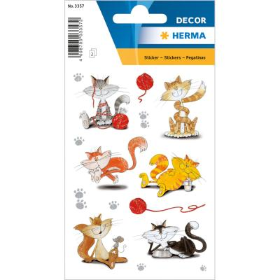 Stickers DÉCOR Funny Cats, Glittery