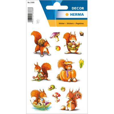 Stickers DÉCOR Brown Squirrels