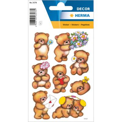 Stickers DÉCOR Bears With Flowers
