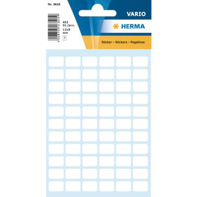 VARIO Rectangular Labels, 8x12mm, White