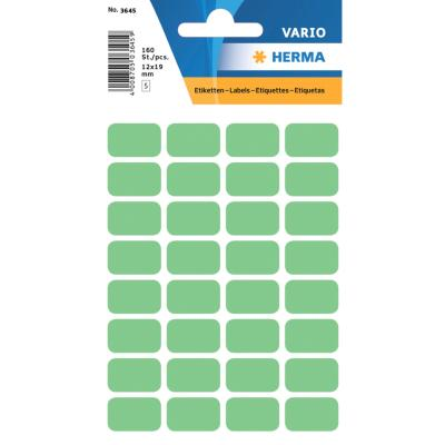VARIO Rectangular Labels, 12x18 mm, Green