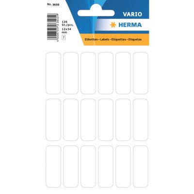 VARIO Rectangular Labels, 12x34 mm, White