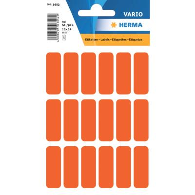 VARIO Rectangular Labels, 12x34 mm, Red