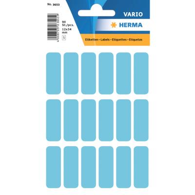 VARIO Rectangular Labels, 12x34 mm, Blue