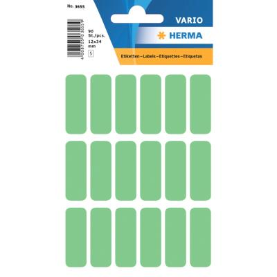 VARIO Rectangular Labels, 12x34 mm, Green