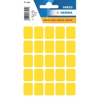 VARIO Rectangular Labels, 15x20 mm, Yellow