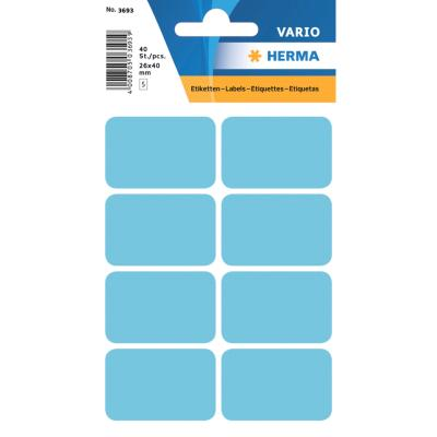 VARIO Rectangular Labels, 25x40 mm, Blue