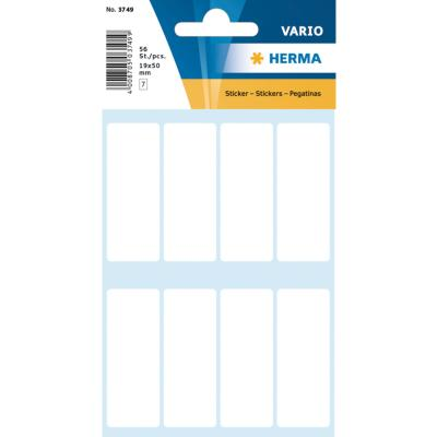 VARIO Rectangular Labels, 20x50 mm, White