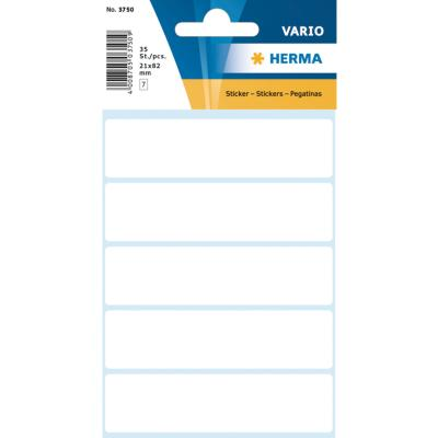 VARIO Rectangular Labels, 21x82 mm, White
