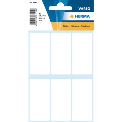 VARIO Rectangular Labels, 26x54 mm, White