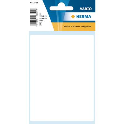 VARIO Rectangular Labels, 81x110 mm, White