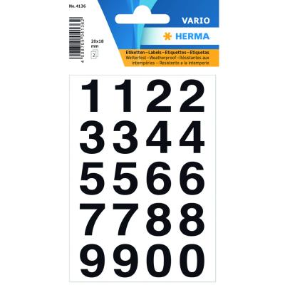 VARIO Numbers (0-9) 20x18 mm, Black