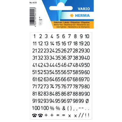 VARIO Numbers (1-100) 5 mm, Black
