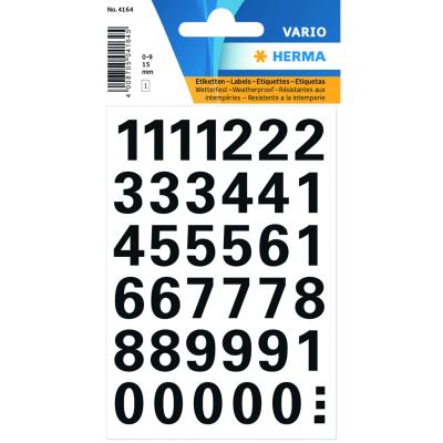 VARIO Numbers (0-9) 15 mm, Black
