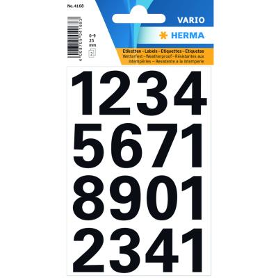 VARIO Numbers (0-9) 25 mm, Black