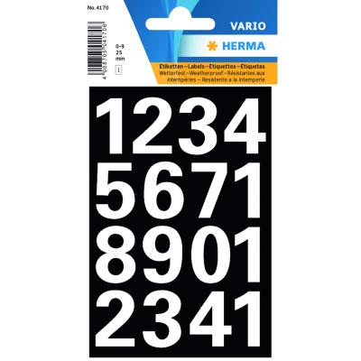 VARIO Numbers (0-9) 25 mm, White