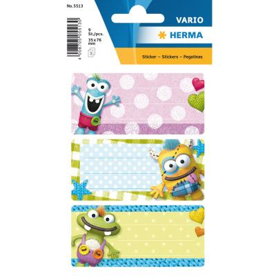 VARIO School Labels, Little Monster