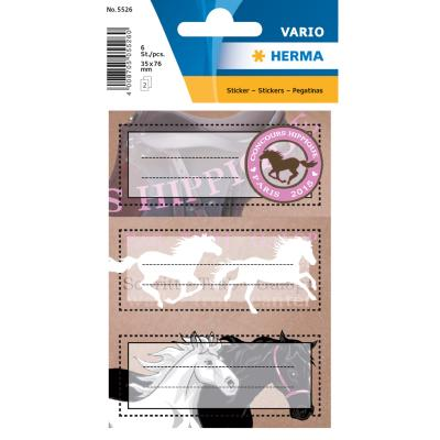 VARIO School Labels, Horses