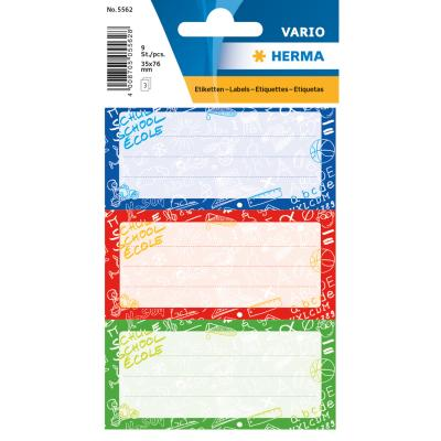 VARIO School Labels, Schoolydoo