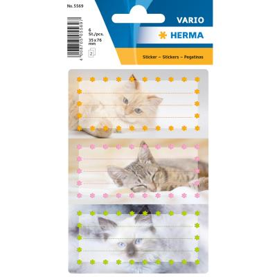 VARIO School Labels, Cats