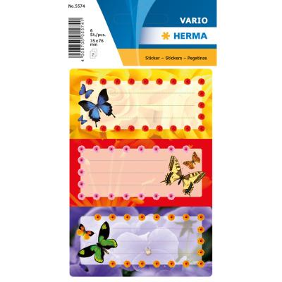 VARIO School Labels, Butterflies