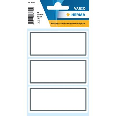 VARIO Neutral Labels, Grey Frame