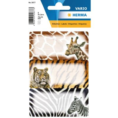 VARIO School Labels, African Animals