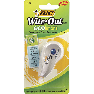 Wite-Out Correction Tape, 6M, Recycled